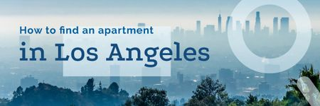 Real Estate in Los Angeles City Email header Modelo de Design