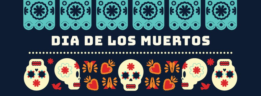Skulls in Dia de los muertos masks — Create a Design