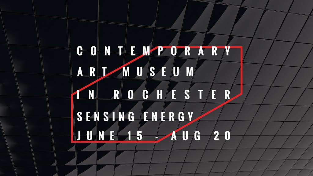Art Museum invitation on black tiles — Crea un design