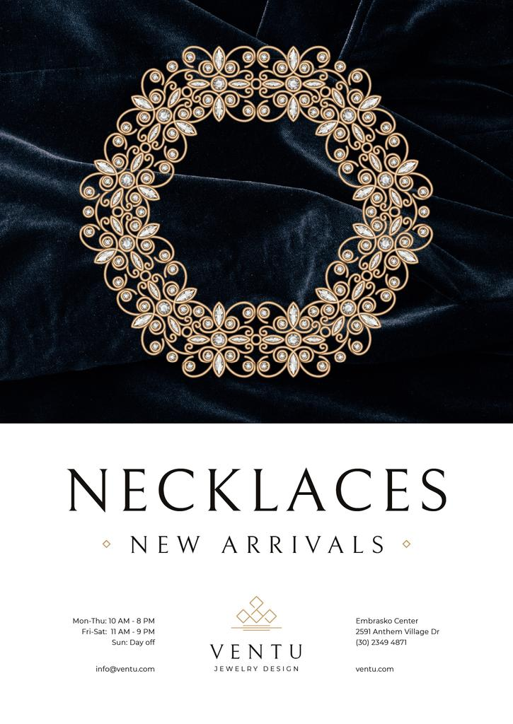 Jewelry Collection Ad with Elegant Necklace — Створити дизайн