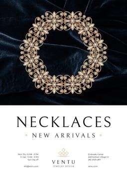 Jewelry Collection Ad with Elegant Necklace