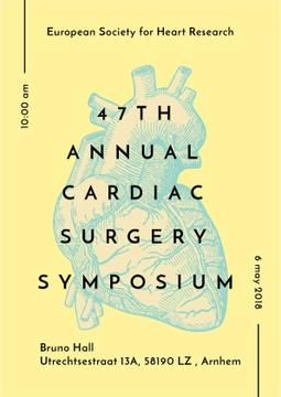 Medical Event Announcement Anatomical Heart Sketch | Poster Template