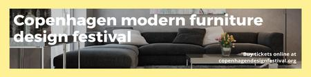 Modern furniture design festival Announcement Twitter – шаблон для дизайну