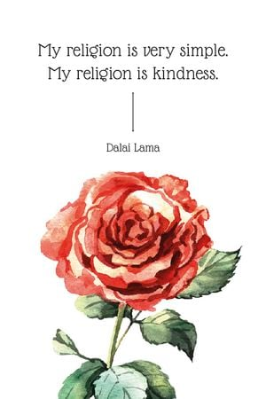 Ontwerpsjabloon van Tumblr van Religion Inspirational quote with rose