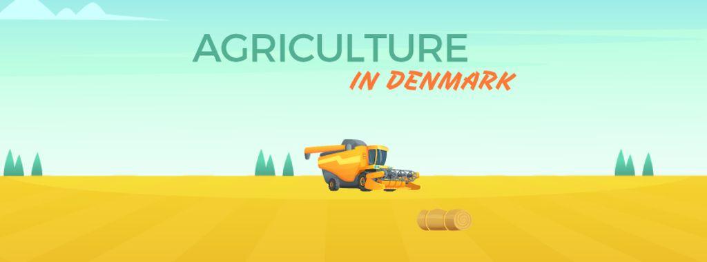 Harvester working in field — Створити дизайн