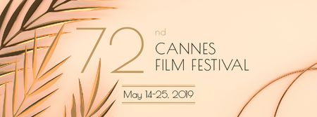 Cannes Film Festival Facebook coverデザインテンプレート