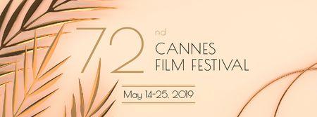 Cannes Film Festival Facebook cover – шаблон для дизайну