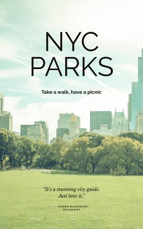 Plantilla de diseño de New York city park view Book Cover