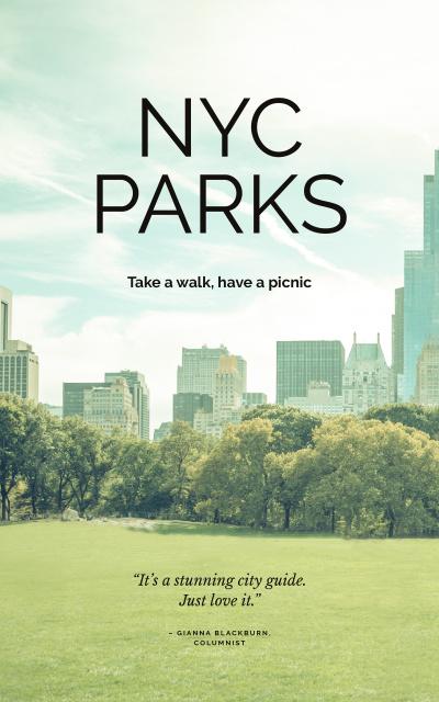 Modèle de visuel New York city park view - Book Cover