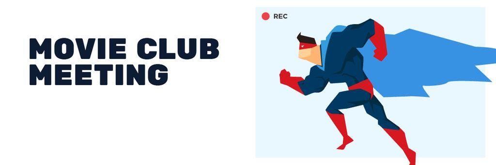 Movie Club Meeting Man in Superhero Costume — Створити дизайн