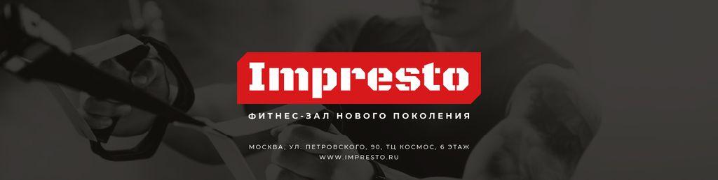 Gym Promotion with Man Resistance training — Créer un visuel