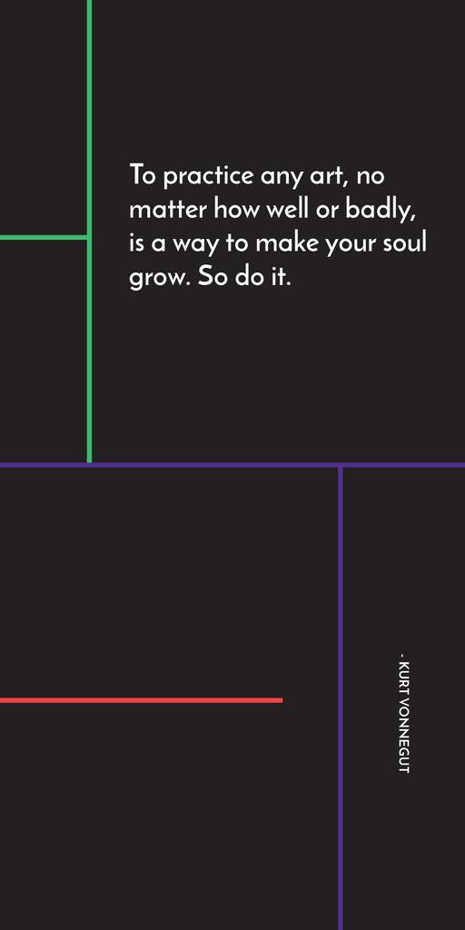 Art Quote in Linear Geometric Frame Graphic – шаблон для дизайна