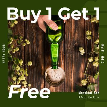 Bar St.Patricks Day Offer with Bottle and greens