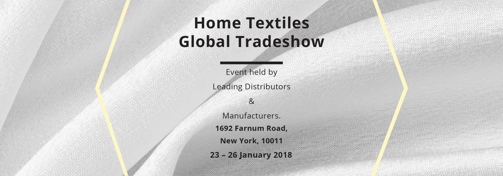 Home Textiles event announcement White Silk — Crea un design