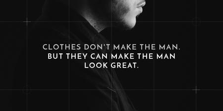 Modèle de visuel Fashion Quote with Businessman Wearing Suit - Twitter
