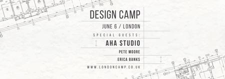 Design camp announcement on blueprint Tumblr – шаблон для дизайну