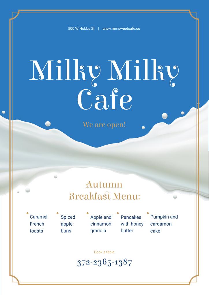 Modèle de visuel White milk wave - Poster