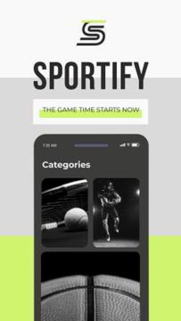 Sport events broadcasting App promotion Mobile Presentation – шаблон для дизайна