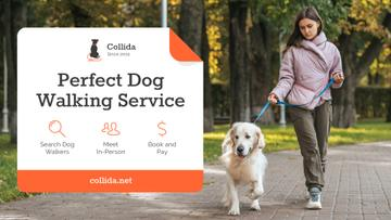Dog Walking Services Girl with Golden Retriever