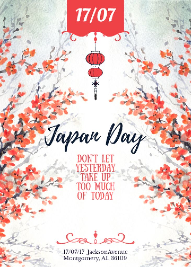 Japan day announcement with Sakura — Create a Design