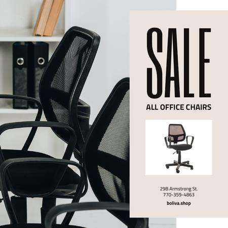 Office stylich Chair Offer Instagram Design Template