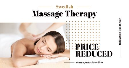 Swedish massage Therapy Ad Facebook AD – шаблон для дизайну