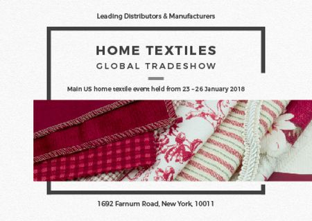 Plantilla de diseño de Home Textiles Event Announcement in Red Postcard
