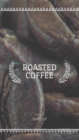 Coffee Shop Invitation Roasted Beans Instagram Story Modelo de Design