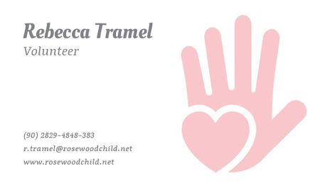 Plantilla de diseño de Volunteer Contacts Information Business card