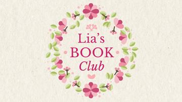 Book Club Ad Circle Frame With Flowers