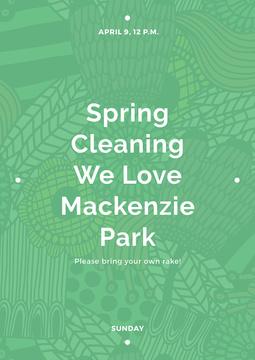 Spring cleaning in Mackenzie park