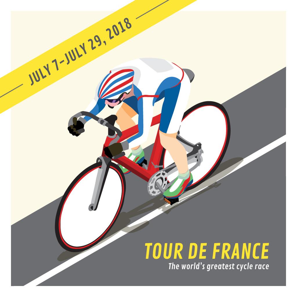 Tout de France 2018 postcard — ein Design erstellen