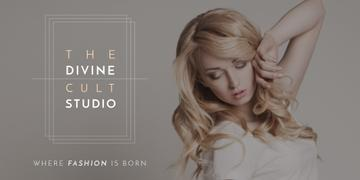 Beauty Studio Ad with Attractive Blonde