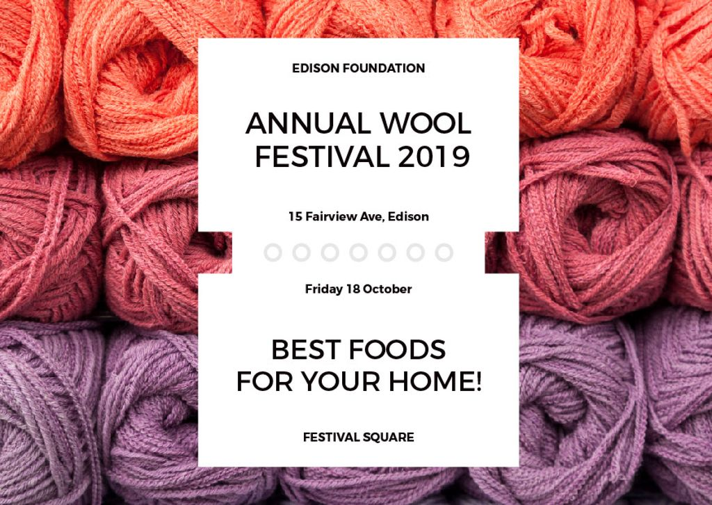 Annual wool festival 2019 — Crea un design