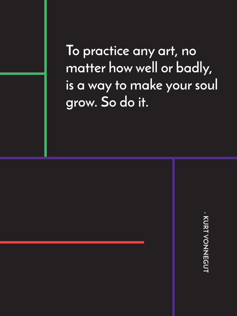 Art Quote in Linear Geometric Frame — ein Design erstellen