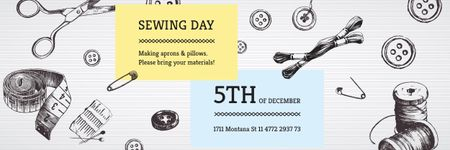 Modèle de visuel Sewing day event - Email header