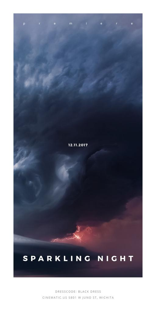 Party Invitation with Stormy Cloudy Sky — Maak een ontwerp