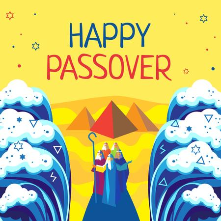 Designvorlage History of Passover holiday für Instagram