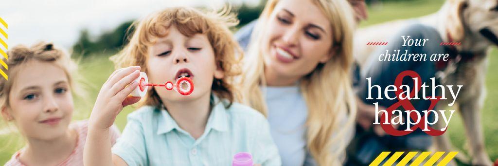 Parents with kids having fun  — Создать дизайн