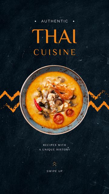 Plantilla de diseño de Tasty Thai cuisine dish Instagram Story