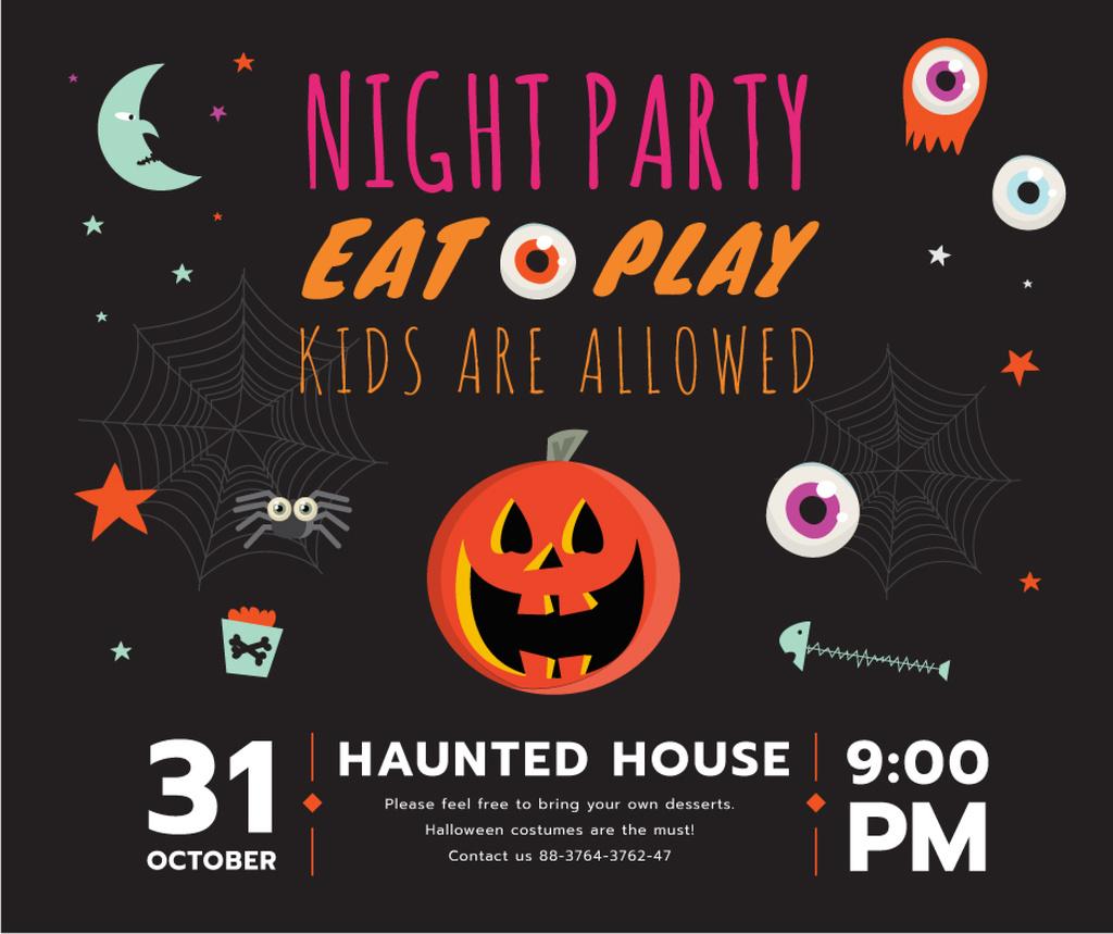 Halloween party invitation with Pumpkin – Stwórz projekt