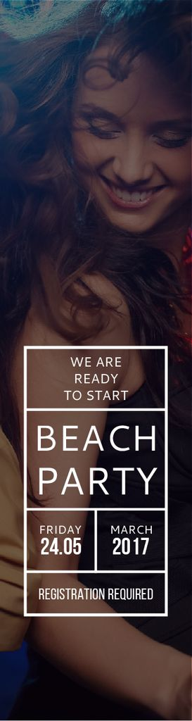 Beach party poster — Crear un diseño
