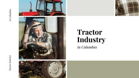 Plantilla de diseño de Farmer on Tractor Working in Field Youtube