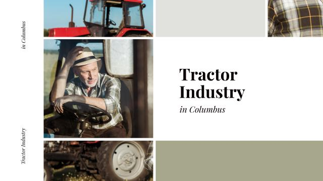 Template di design Farmer on Tractor Working in Field Youtube