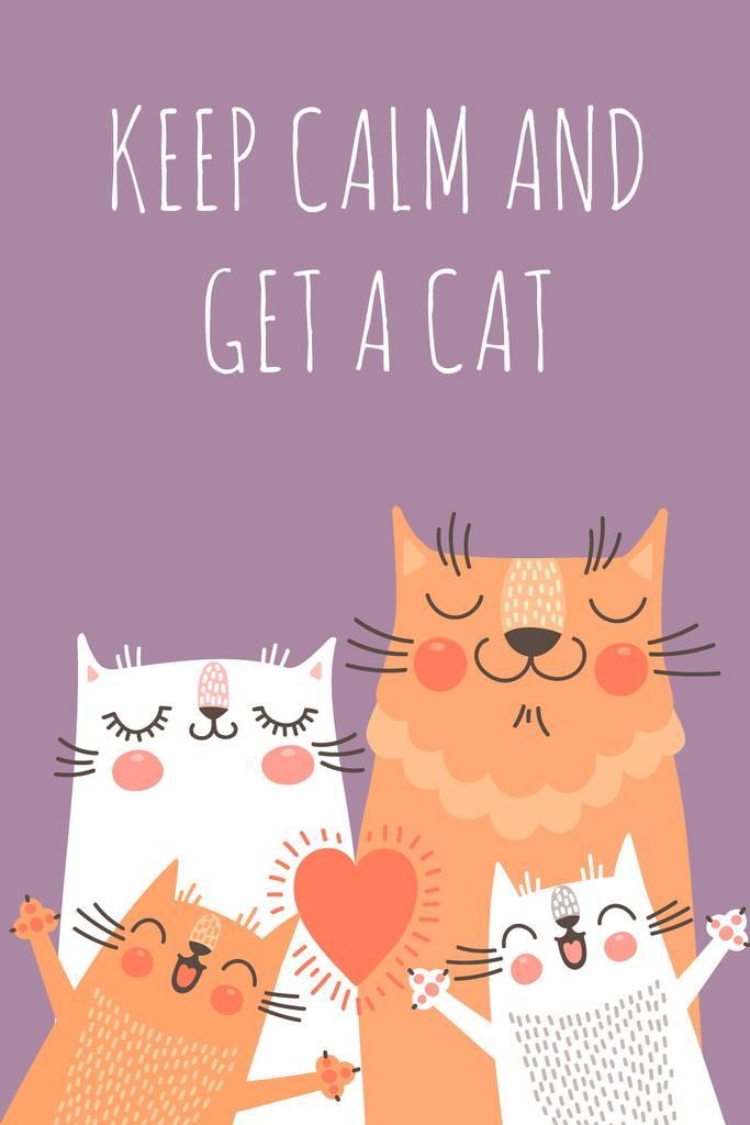 Keep calm and get a cat poster — Створити дизайн