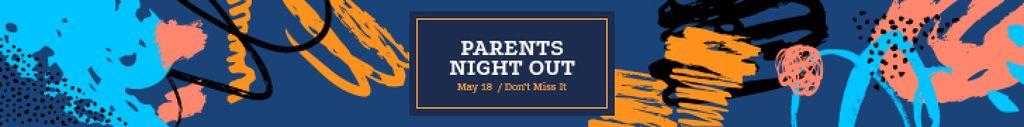 Night Out Invitation Colorful Paint Blots — Crear un diseño