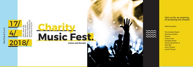 Charity Music Fest Invitation Crowd at Concert Tumblr Modelo de Design