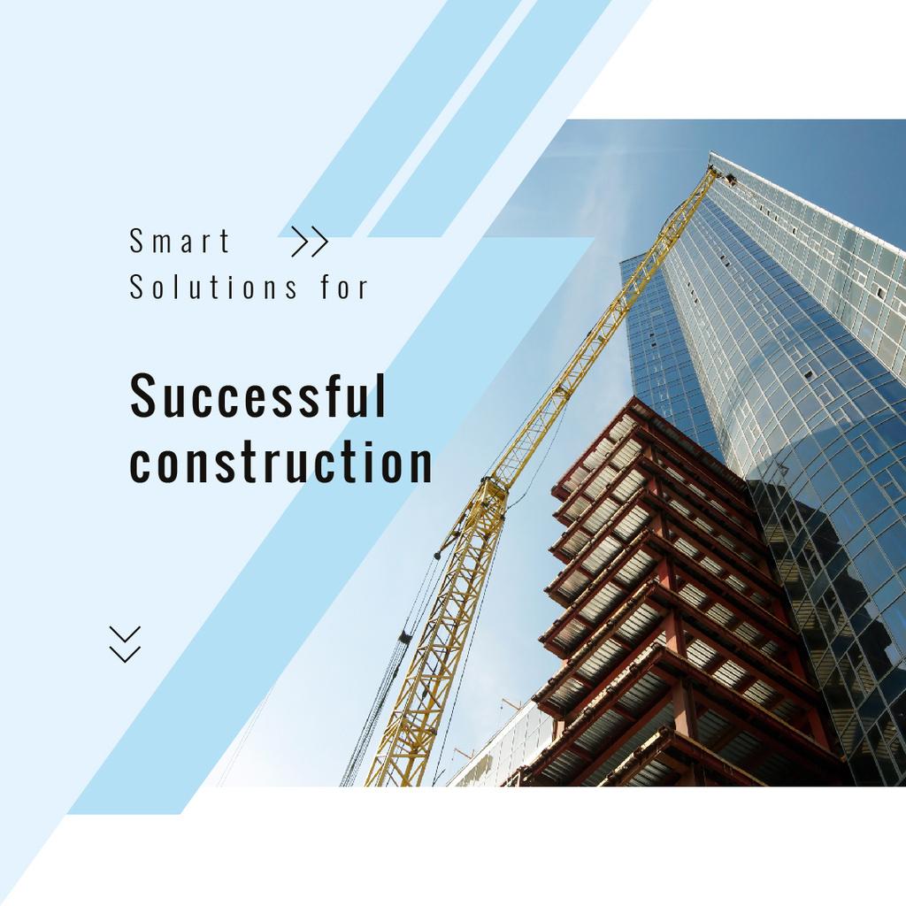 Crane at construction site — Design Template