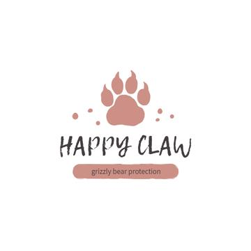 Fauna Protection with Bear Paw Print