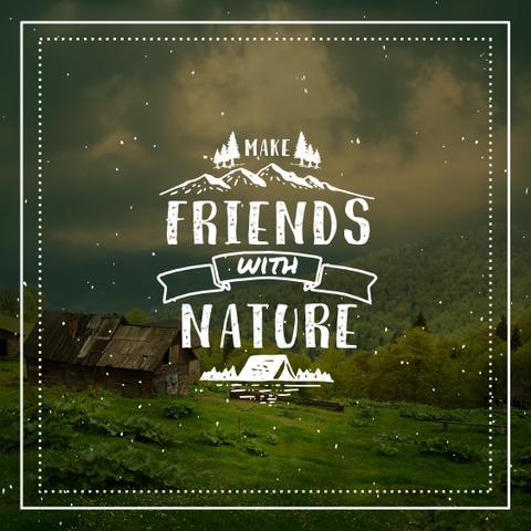 Publicação do Instagram Natureza e vida selvagem 1080px 1080px